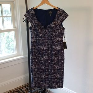NWT Adrianna Papell BodyCon Dress Size 12 Chambray